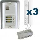 Parlofoon opbouw kit Sinthesi-Signo 3 toetsen (5 draadsysteem)