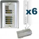 Parlofoon opbouw kit Sinthesi-Signo 6 toetsen (5 draadsysteem)