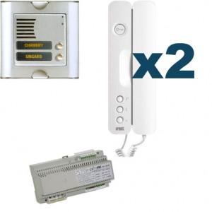 Parlofoon kit Sinthesi-Signo 2 toetsen (5 draadsysteem)