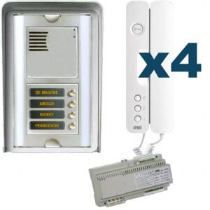 Parlofoon opbouw kit Sinthesi-Signo 4 toetsen (5 draadsysteem)