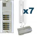 Parlofoon kit Sinthesi-Signo 7 toetsen (Bibus 2 draadsysteem)