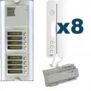 Parlofoon kit Sinthesi-Signo 8 toetsen (Bibus 2 draadsysteem)