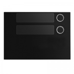 Frontaal zwart met 2 toetsen voor toetsen module