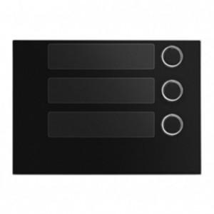 Frontaal zwart met 3 toetsen voor toetsen module