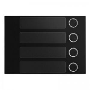 Frontaal zwart met 4 toetsen voor toetsen module