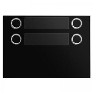 Frontaal zwart met 4 toetsen (2x2) voor toetsen module