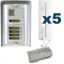 Parlofoon opbouw kit Sinthesi-Signo 5 toetsen (5 draadsysteem)