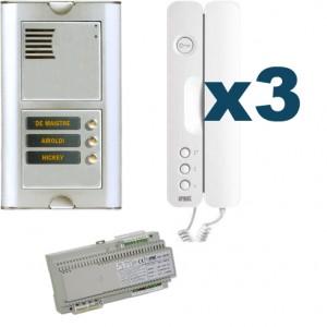 Parlofoon kit Sinthesi S2-Signo 3 toetsen (Bibus 2 draadsysteem)